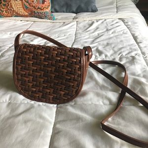 Small woven crossbody purse